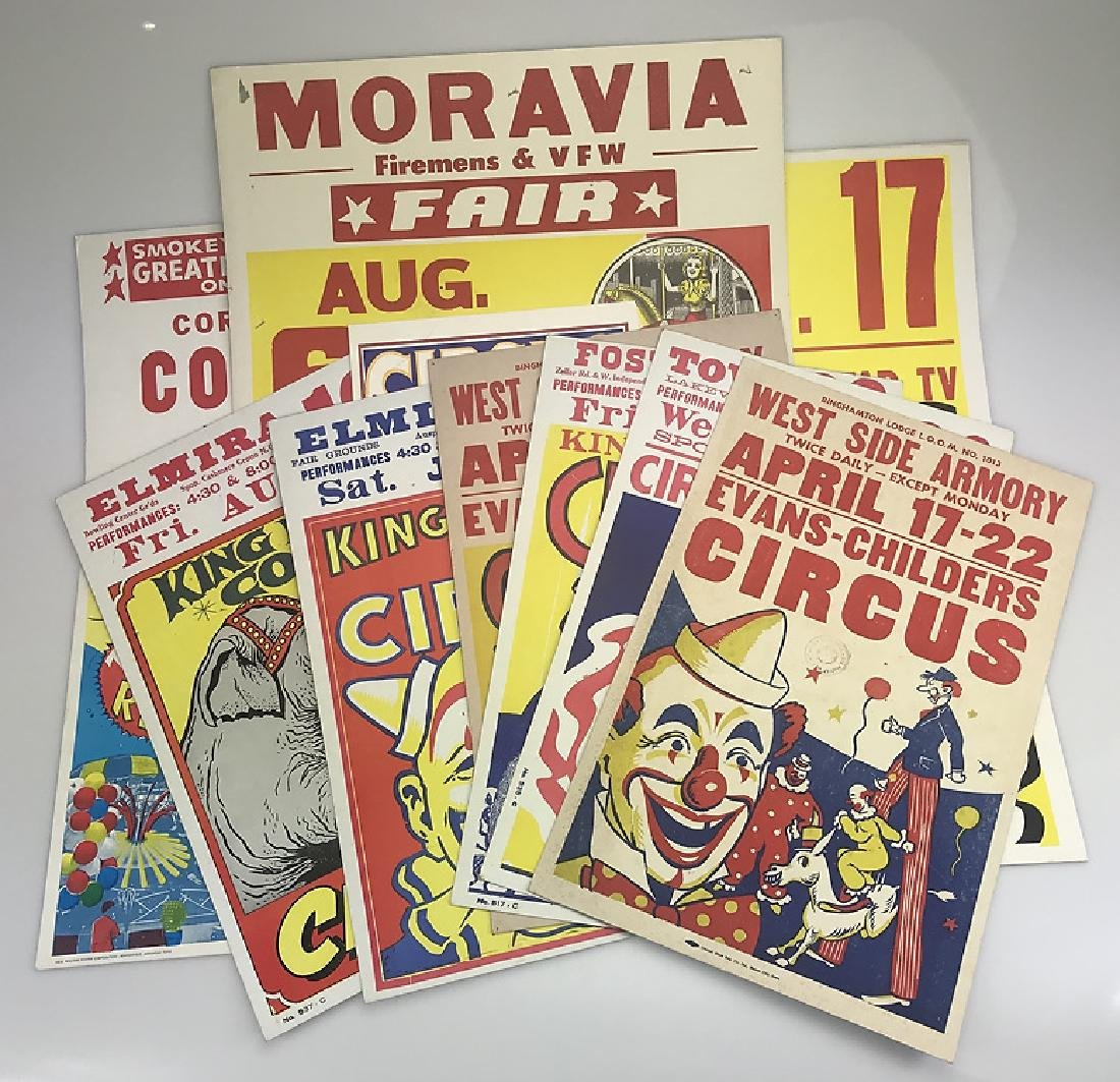 10pcs Vintage Circus Posters COLLECTIBLE CIRCUS & FAIR