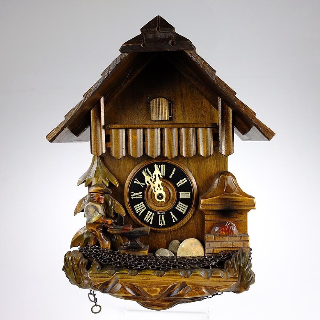Vintage Blacksmith Clock CUCKOO CLOCK BLACK FOREST