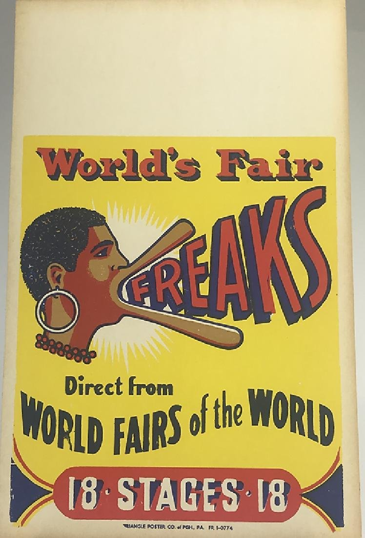 Antique World's Fair FREAKS DIRECT FROM WORLDS FAIRS OF