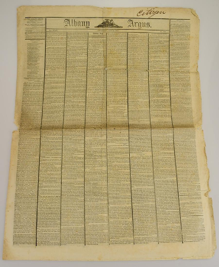 6pcs New York London ANTIQUE NEWSPAPERS 1775-1845 York - 10