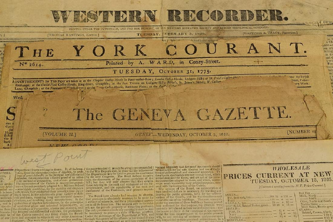 6pcs New York London ANTIQUE NEWSPAPERS 1775-1845 York - 3