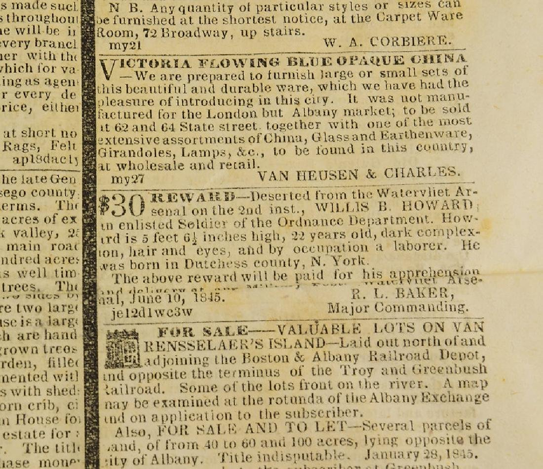 6pcs New York London ANTIQUE NEWSPAPERS 1775-1845 York - 5