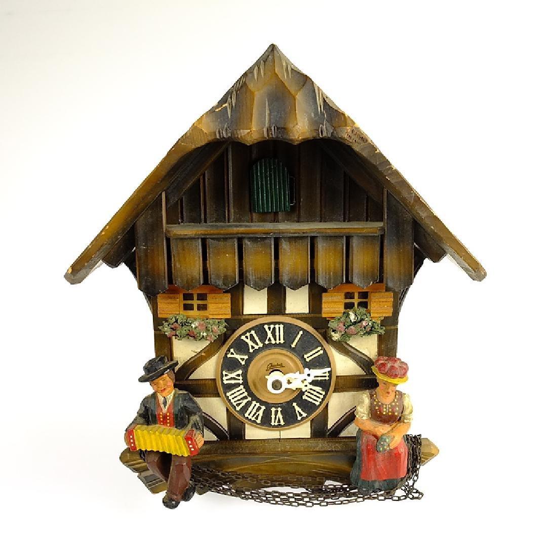 Vintage Cuckoo Clock BLACK FOREST CLOCK HAND CARVED