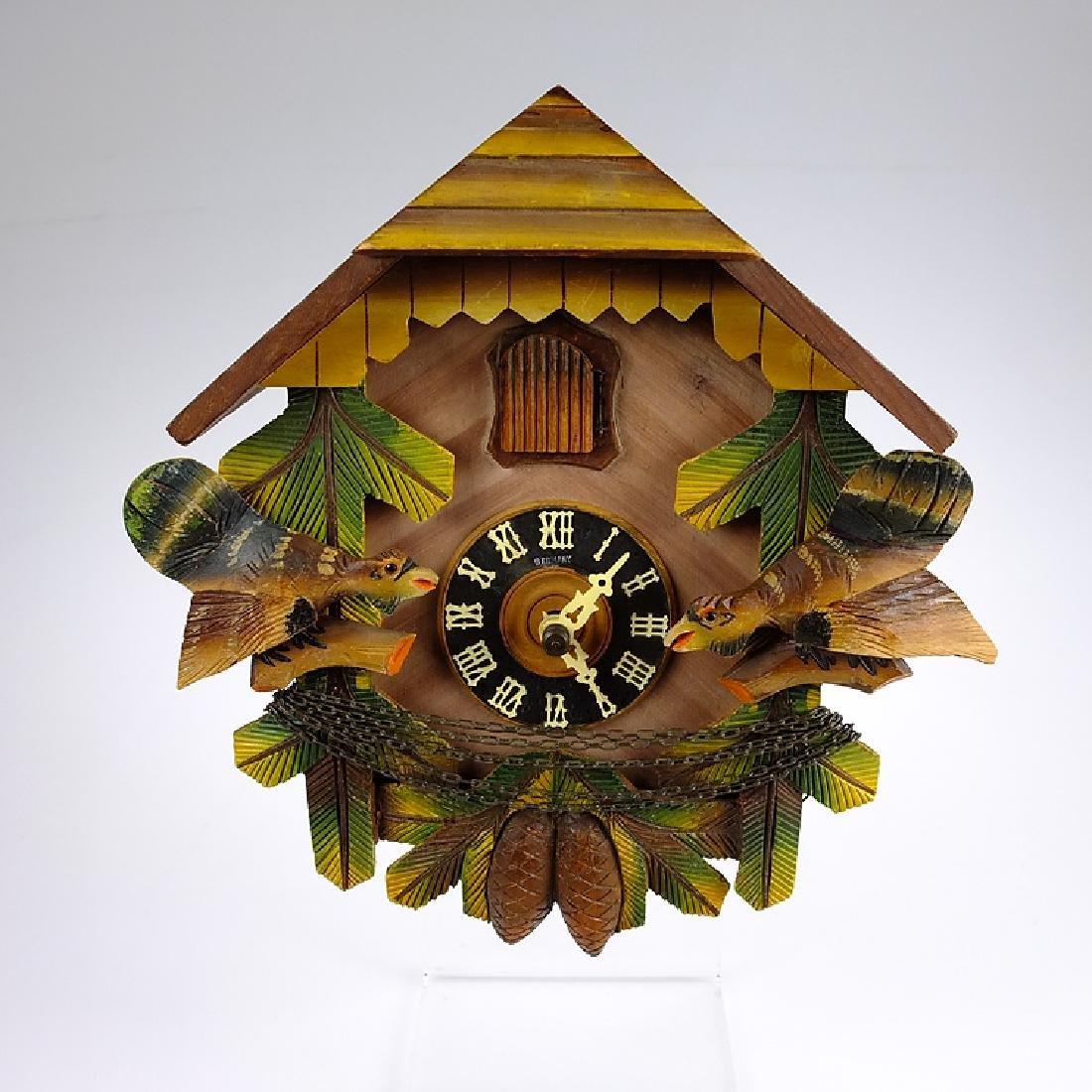 Forestville Clock Co CUCKOO CLOCK VINTAGE BLACK FOREST