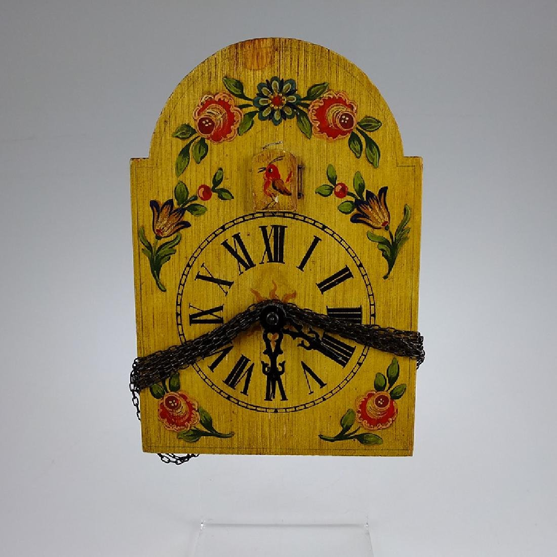 Vintage Shield Clock CUCKOO CLOCK BLACK FOREST GERMANY