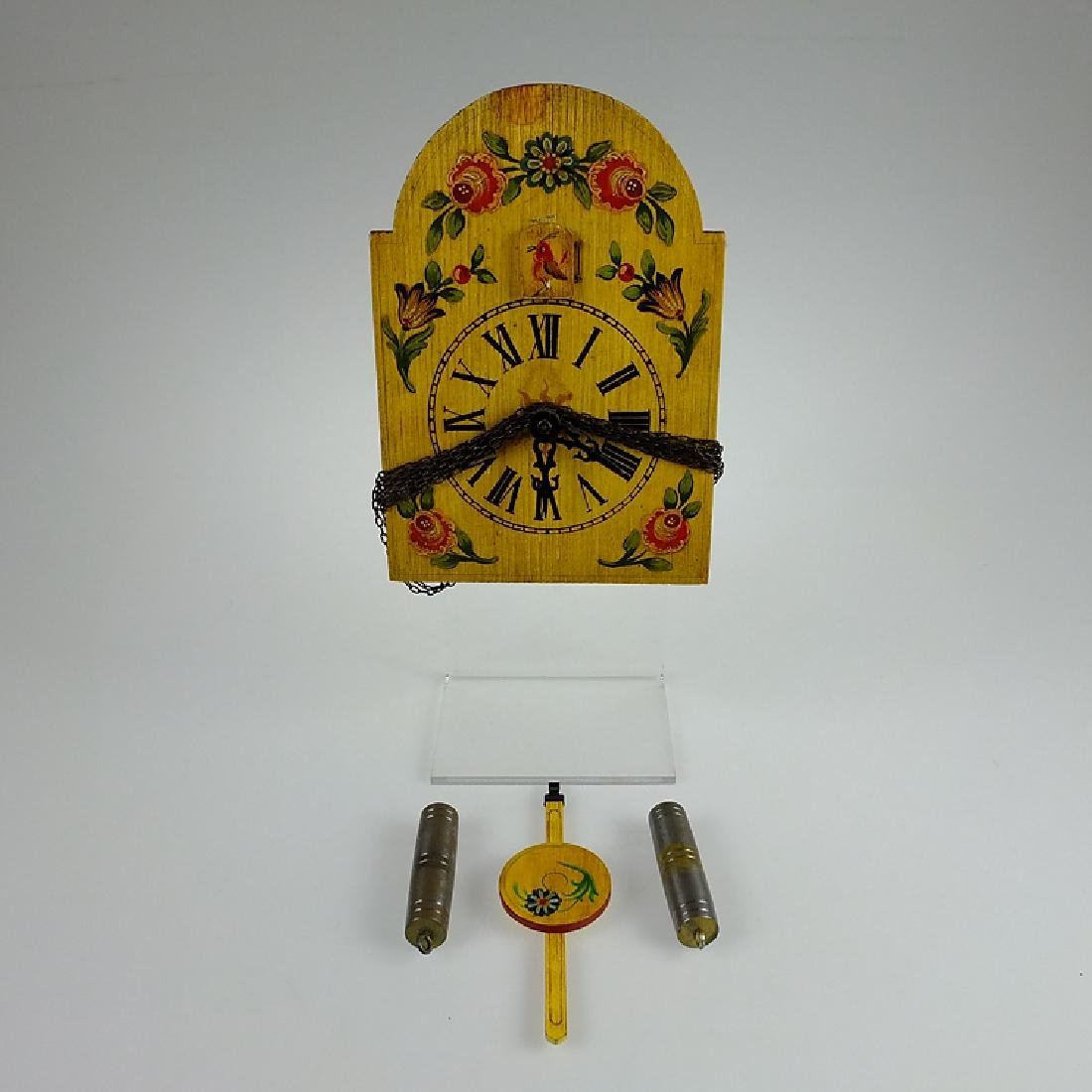 Vintage Shield Clock CUCKOO CLOCK BLACK FOREST GERMANY - 2