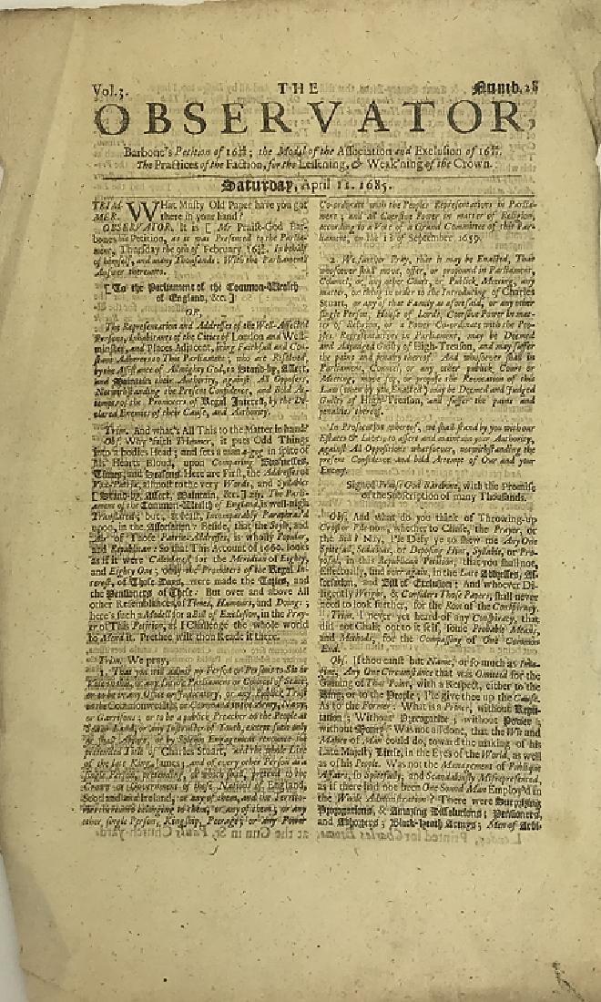 7pcs Antique European Newspaper LONDON GAZETTE - 2