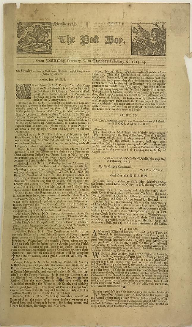 7pcs Antique European Newspaper LONDON GAZETTE - 3