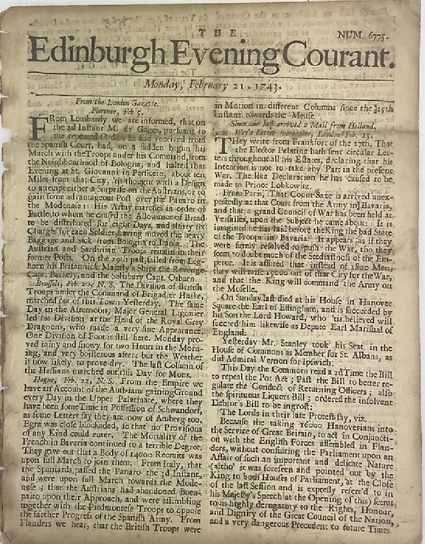 7pcs Antique European Newspaper LONDON GAZETTE - 6