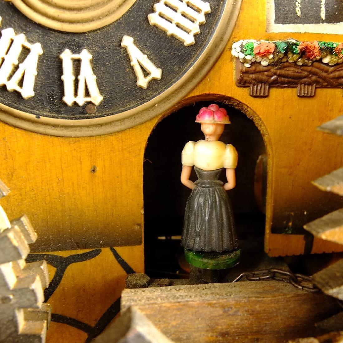 Black Forest Clock VINTAGE CUCKOO CLOCK MUSIC BOX WATER - 10