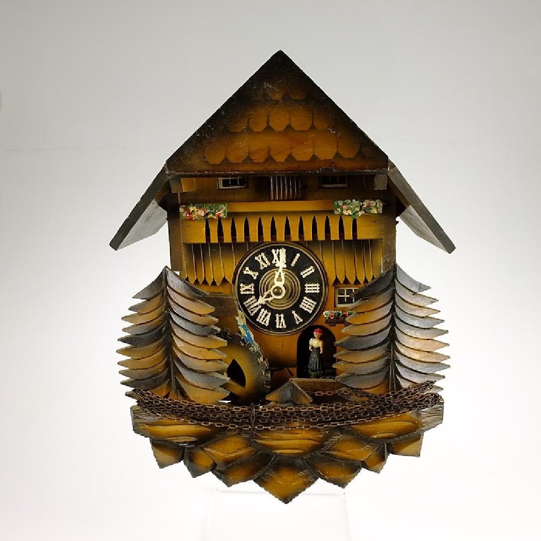 Black Forest Clock VINTAGE CUCKOO CLOCK MUSIC BOX WATER