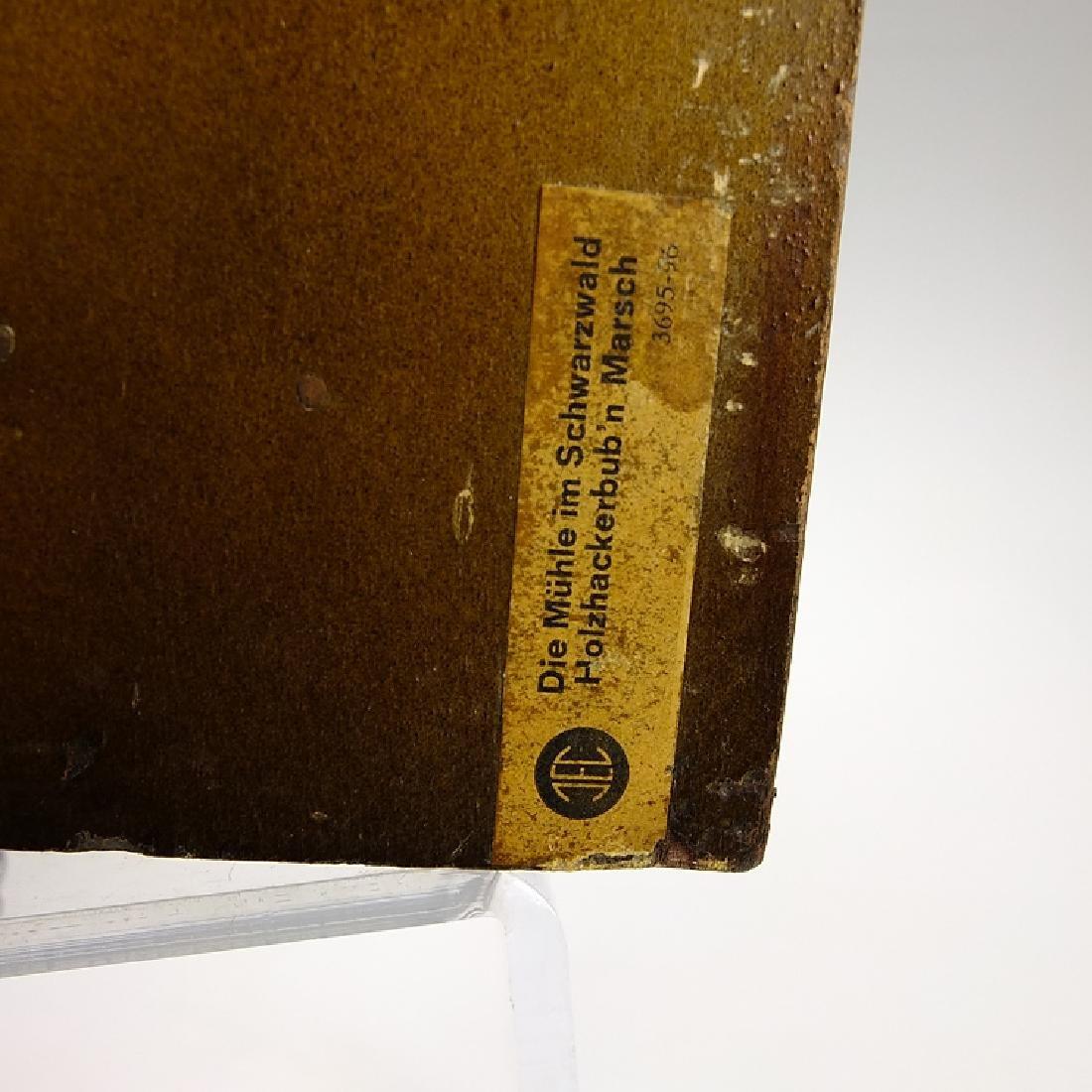 Black Forest Clock VINTAGE CUCKOO CLOCK MUSIC BOX WATER - 8
