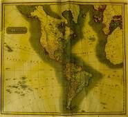 Original Copper Engraving ANTIQUE MAP AMERICAS 1817