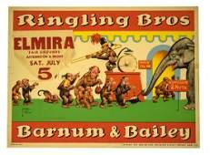 Antique Circus Sign RINGLING BROS & BARNUM & BAILEY