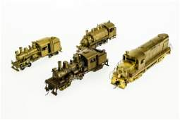 5Pcs Vintage Model Railroad COLLECTIBLE BRASS HO TRAIN