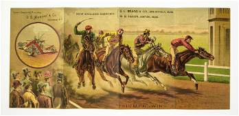 DS Morgan  Co ANTIQUE HORSE RACING TRADE CARD TRIUMPH