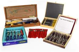 4 Sets Tools WOOD CARVING CHISELS AND GOUGES Marples