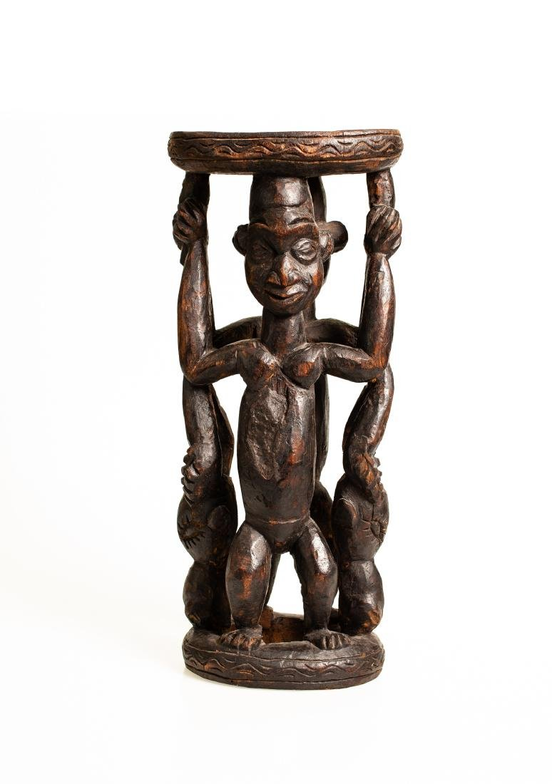 Vintage African Congo Yaka Tribal Hand Carved Wood Figure Statue