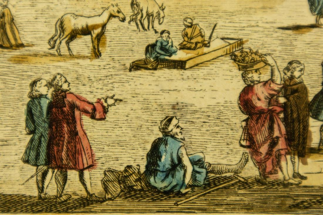 Basset Huquier HAND-COLORED ENGRAVING ST. JEAN ST. PAUL - 10