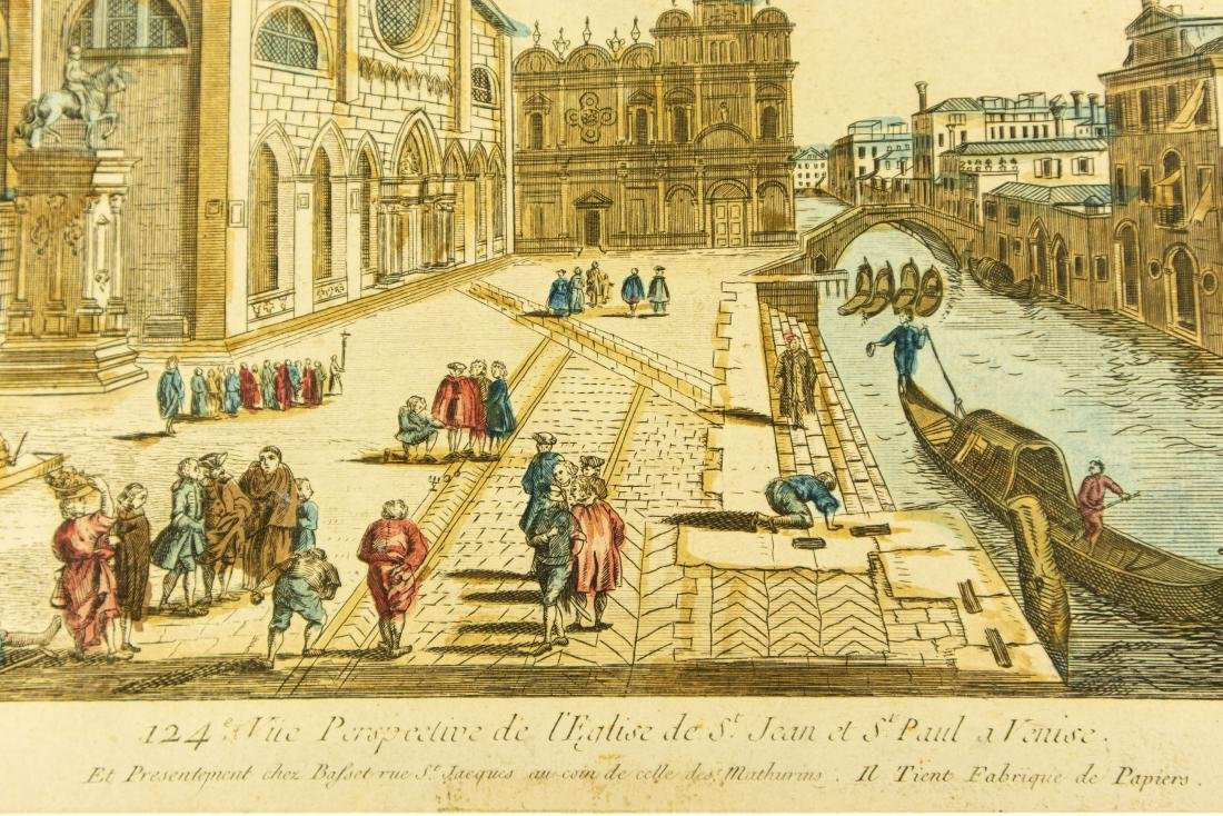 Basset Huquier HAND-COLORED ENGRAVING ST. JEAN ST. PAUL - 5