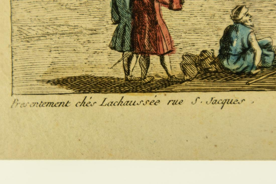 Basset Huquier HAND-COLORED ENGRAVING ST. JEAN ST. PAUL - 7