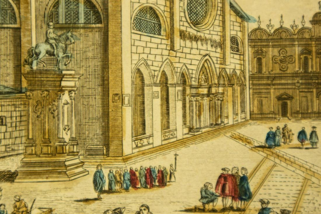 Basset Huquier HAND-COLORED ENGRAVING ST. JEAN ST. PAUL - 9