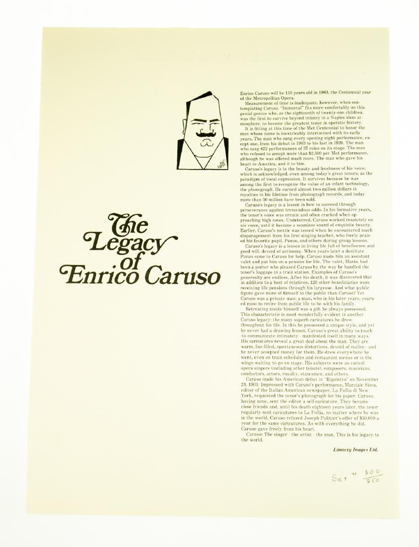 Tom Darby CARICATURES BY ENRICO CARUSO 1982 Ltd Edition - 2