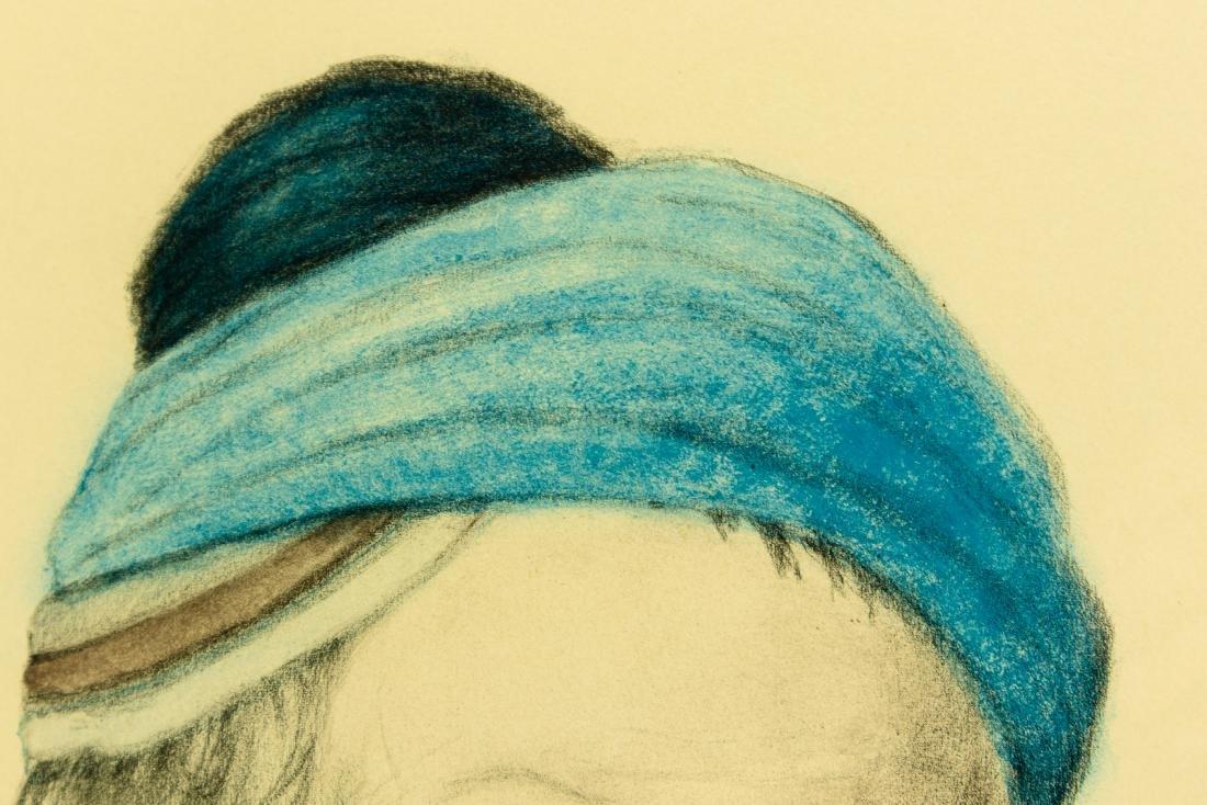 Irving Weinstein RABBI PORTRAIT c1960 Hand-Colored - 6