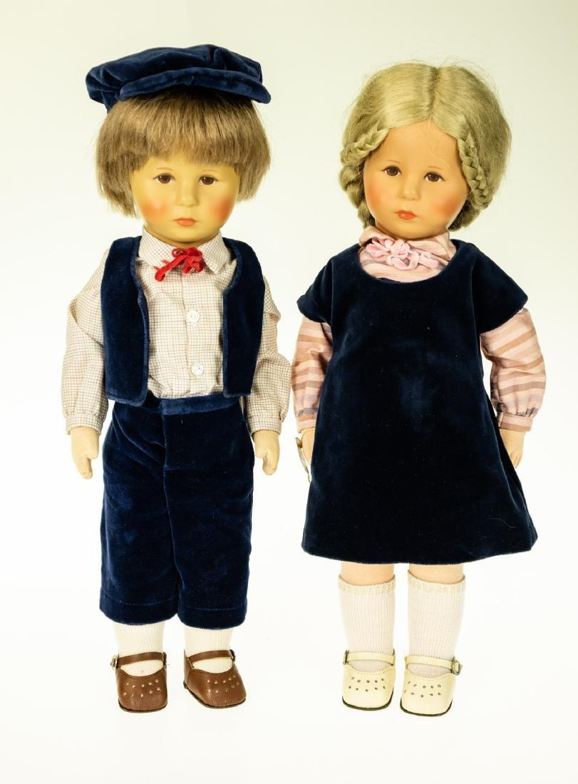 2Pcs Rare KATHY KRUSE MALE AND FEMALE DOLLS blonde hair