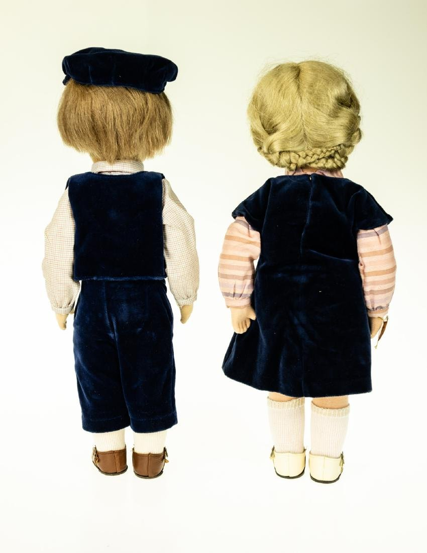 2Pcs Rare KATHY KRUSE MALE AND FEMALE DOLLS blonde hair - 2