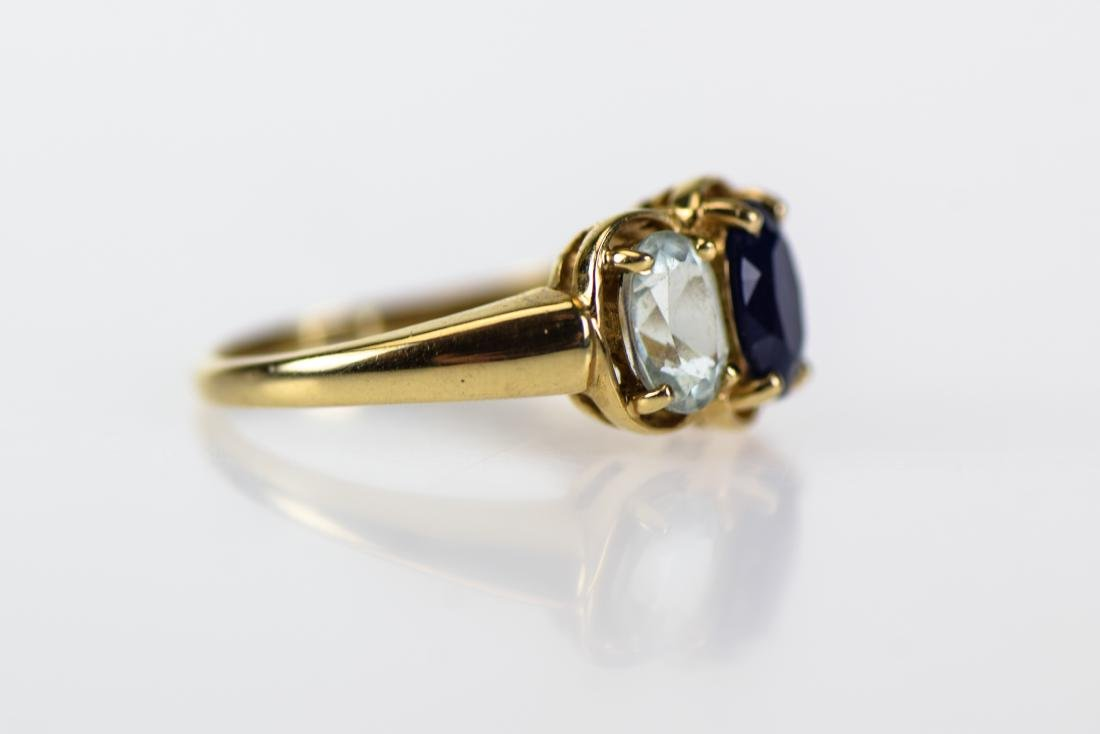 2pcs Sapphire 14 KARAT GOLD FINE ESTATE JEWELRY - 5