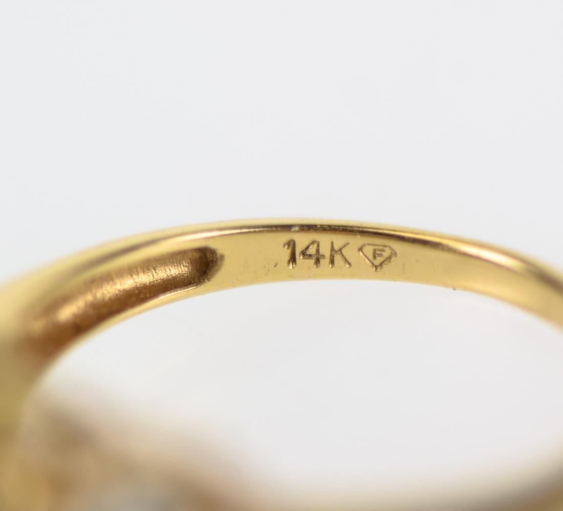2pcs Sapphire 14 KARAT GOLD FINE ESTATE JEWELRY - 6