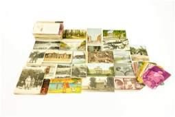 150Pcs Post Cards ANTIQUE ESTATE EPHEMERA Real Photo
