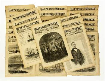 27 Pcs Antique Newspapers HARPER'S WEEKLY A JOURNAL OF