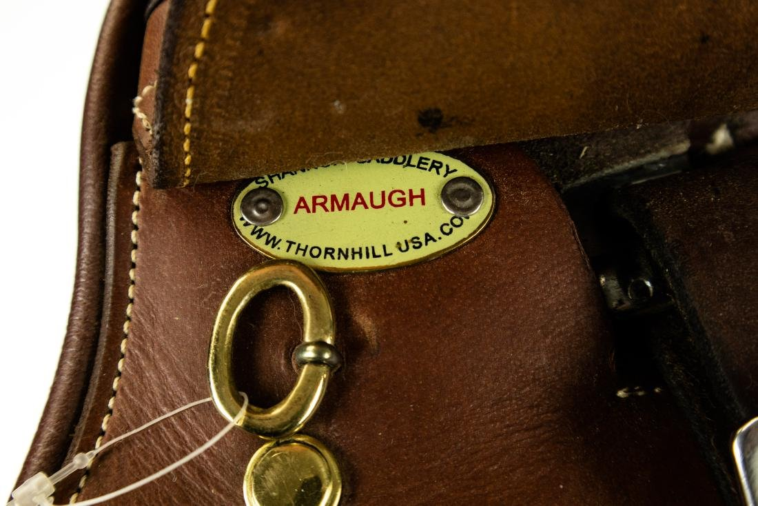 "Leather Armaugh NEW 16"" THORNHILL DRESSAGE SADDLE - 6"