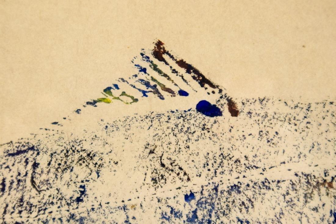 Karl Mann RELIEF MONOPRINT OF FISH 1958 Artist Signed - 4