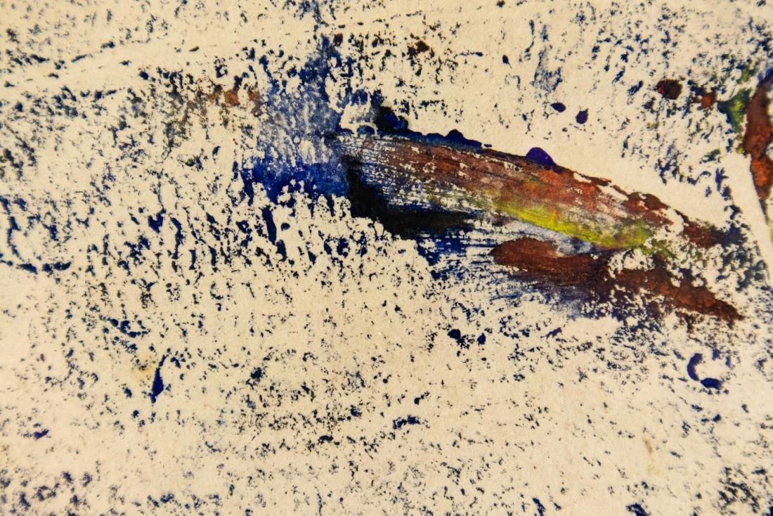 Karl Mann RELIEF MONOPRINT OF FISH 1958 Artist Signed - 7