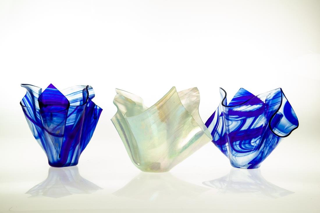 3Pcs Candles Vases NEW HANDMADE STAINED-GLASS