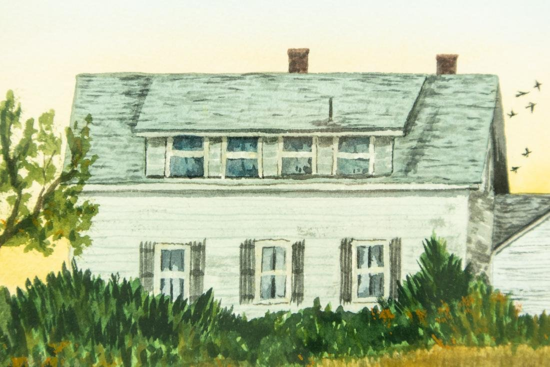 Jack Graziano GRASSY MEADOW & HOUSE ORIGINAL WATERCOLOR - 3