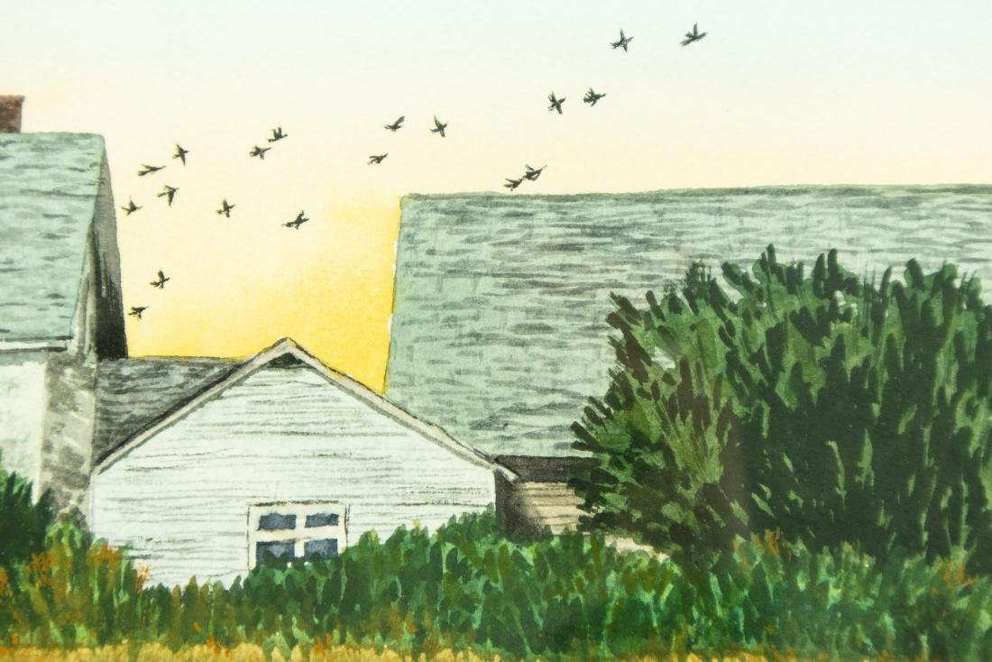 Jack Graziano GRASSY MEADOW & HOUSE ORIGINAL WATERCOLOR - 4