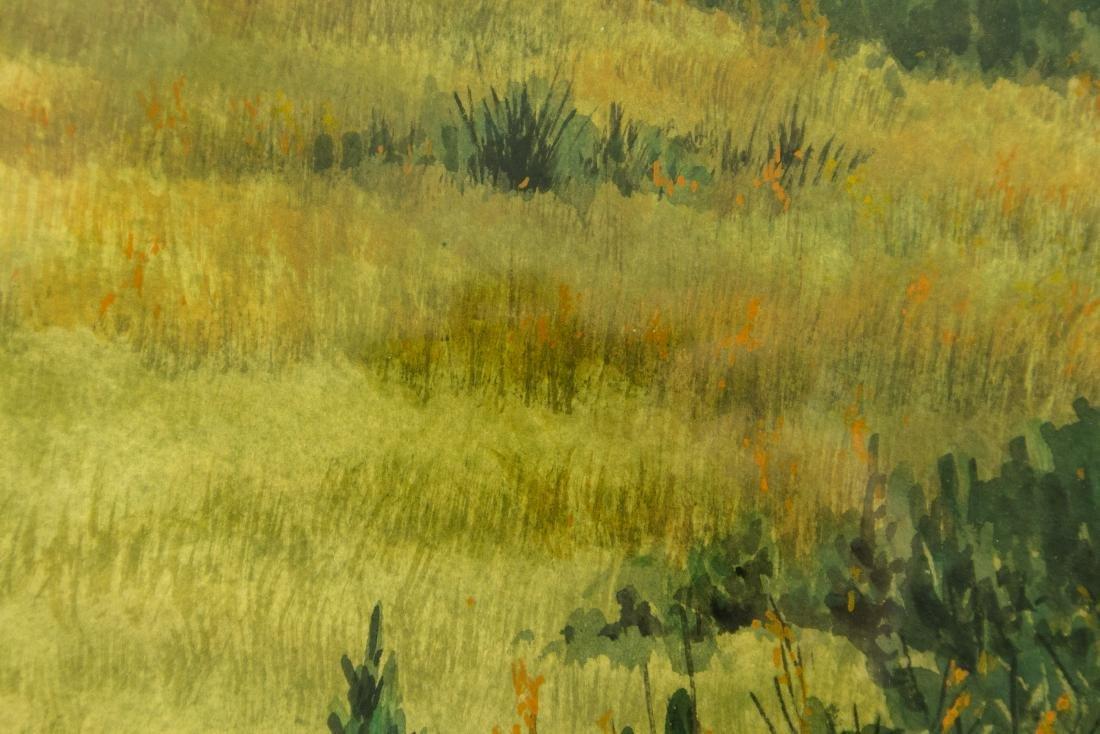 Jack Graziano GRASSY MEADOW & HOUSE ORIGINAL WATERCOLOR - 5