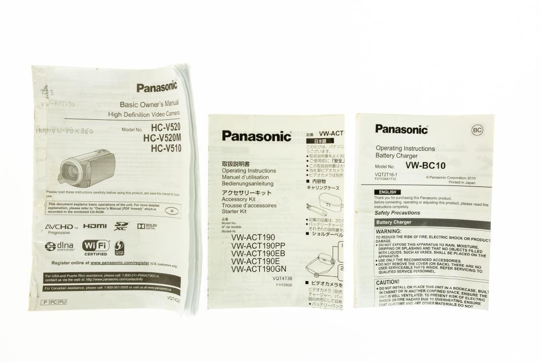 LCD Touchscreen Monitor PANASONIC HC-V520 FULL HD - 3