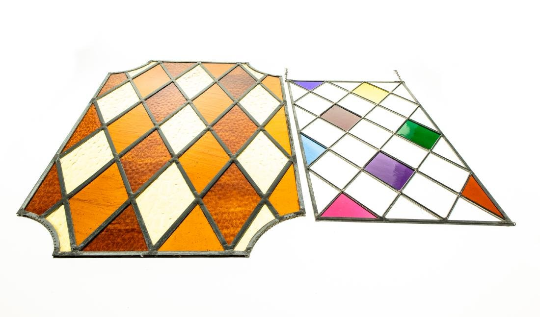 2Pcs Window Hangings HANDMADE LEADED STAINED-GLASS - 2