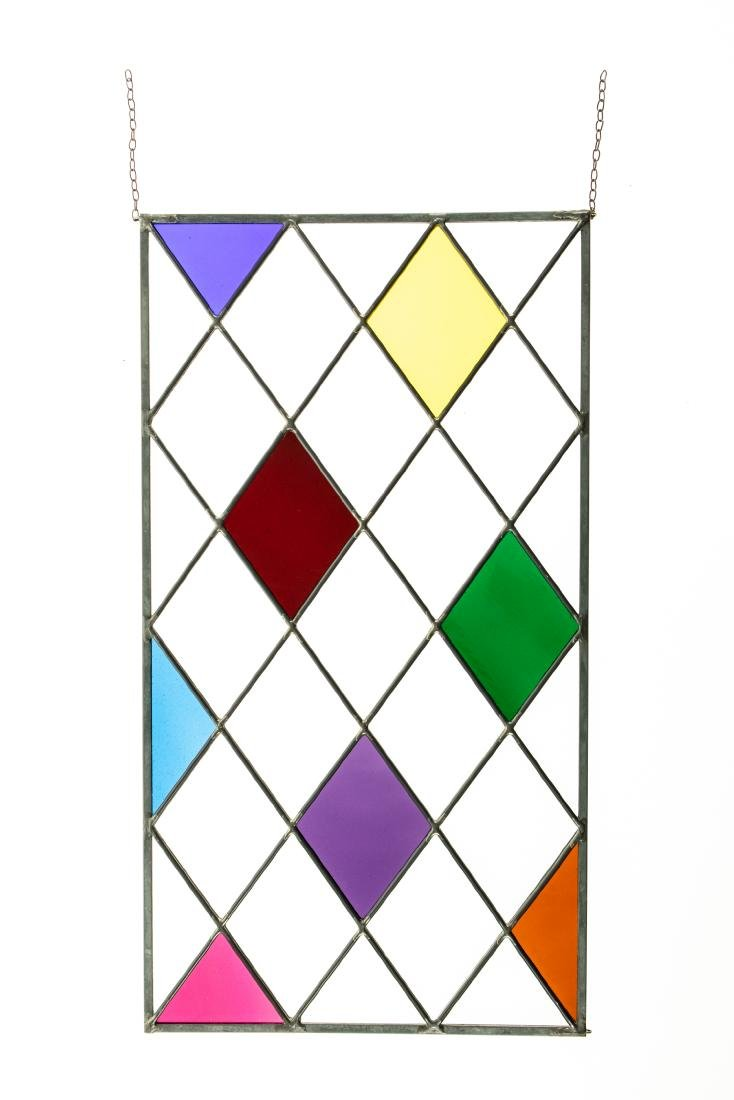 2Pcs Window Hangings HANDMADE LEADED STAINED-GLASS - 9