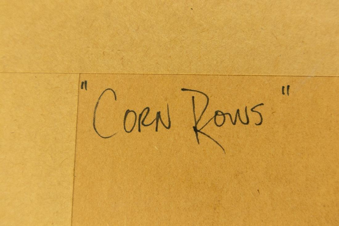 Jack Graziano CORN ROWS ORIGINAL WATERCOLOR PAINTING - 10