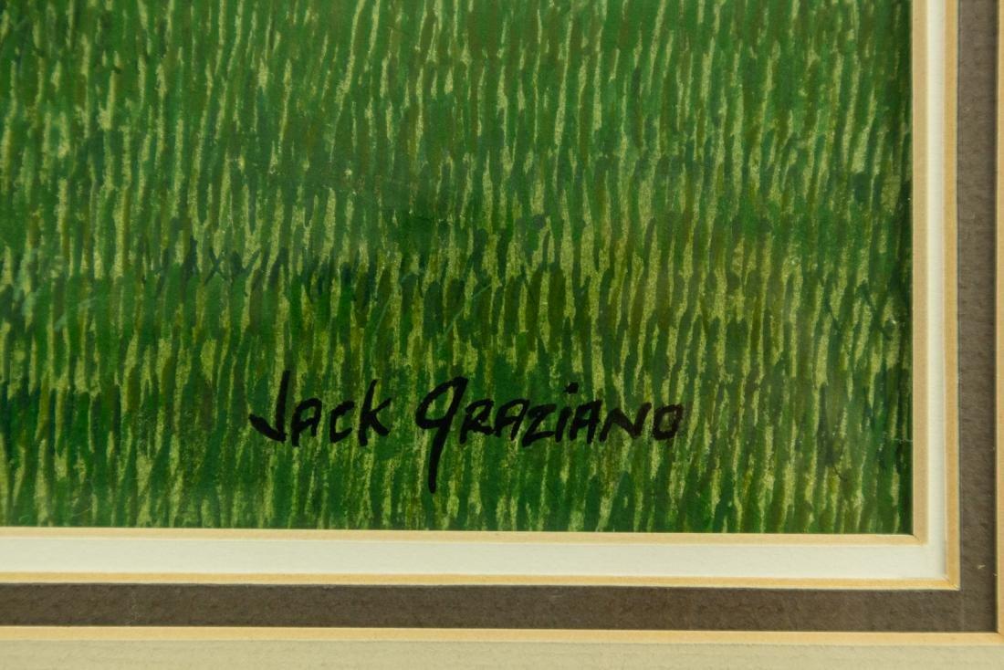 Jack Graziano CORN ROWS ORIGINAL WATERCOLOR PAINTING - 2