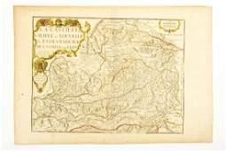 Antique Map LA CASTILLE VIEIELE ET NOUVELLE L
