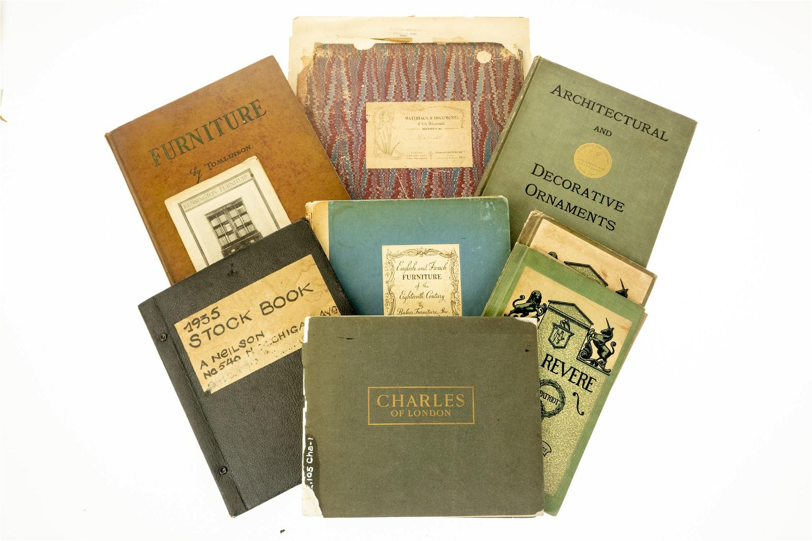 12V ANTIQUE FURNITURE REFERENCE Plates Folios Catalogs