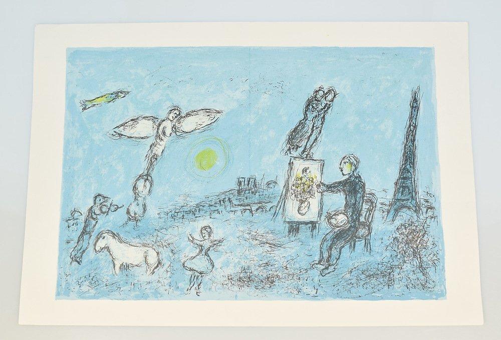 Marc Chagall DERRIERE LE MIROIR STONE LITHOGRAPH Artist