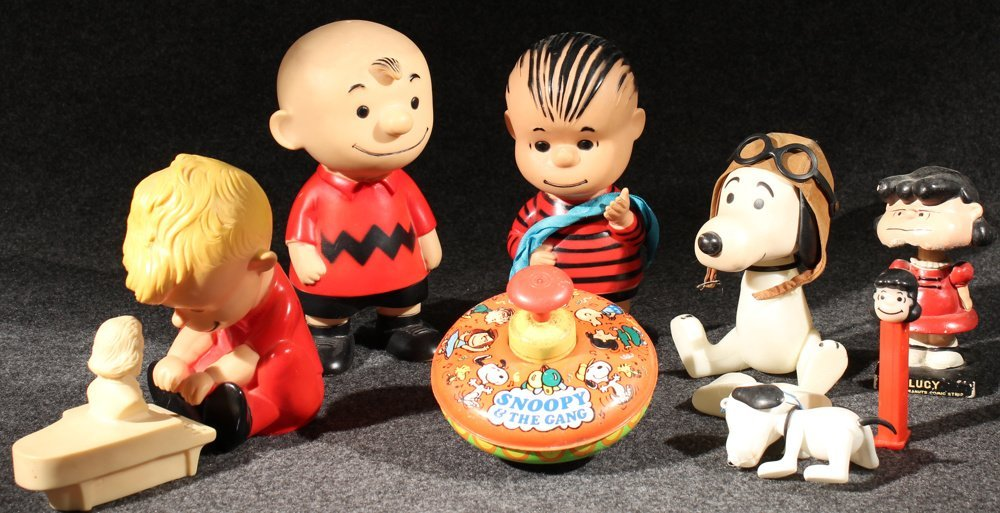 8Pcs Original Vintage PEANUTS TOYS & FIGURINES Snoopy